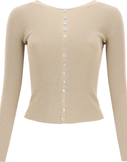 LEMAIRE SECOND SKIN SWEATER S Brown Technical