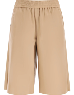 DROME NAPPA SHORTS M Beige, Brown Leather