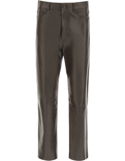 DROME FIVE POCKET NAPPA TROUSERS S Brown Leather