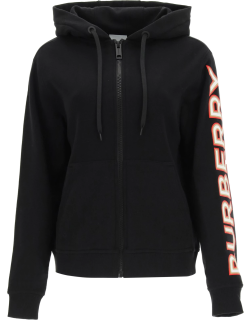 BURBERRY RYLEE HOODIE WITH LOGO S Black Cotton