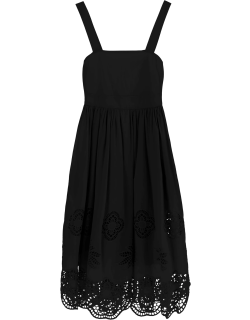 SEE BY CHLOE GUIPURE DRESS 38 Black Cotton
