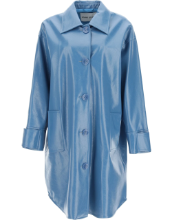 STAND KALI FAUX LEATHER COAT 38 Blue Faux leather