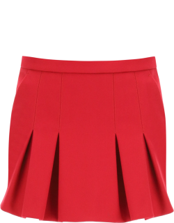 RED VALENTINO SHORTS WITH FRONT PANEL 40 Fuchsia