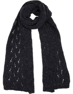 Dents Women's Lace Knit Scarf In Navy