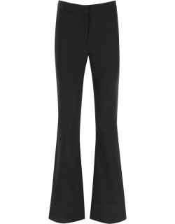 MOSCHINO FLARED SATIN TROUSERS 42 Black