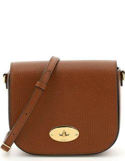 MULBERRY SMALL DARLEY SATCHEL BAG OS Brown Leather