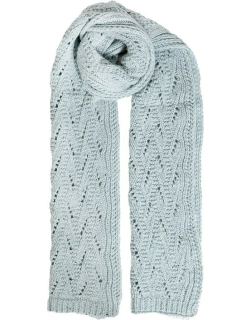 Dents Women's Lace Knit Scarf In Duck Egg