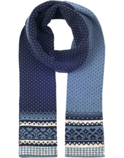 Dents Women's Fair Isle Knitted Scarf In Blue