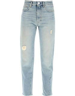 TOTEME TWISTED CROPPED JEANS 29 Blue Cotton, Denim