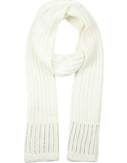 Dents Women's Diamante Knitted Scarf In Winter White
