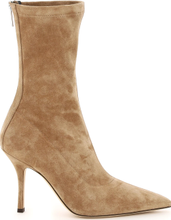 PARIS TEXAS MAMA ANKLE BOOTS IN SUEDE 37 Beige