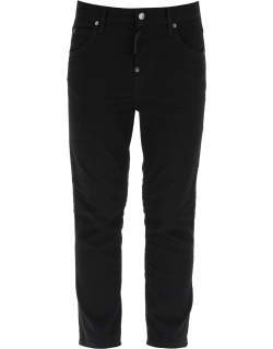 DSQUARED2 COOL GRIL CROPPED JEANS 40 Black Cotton