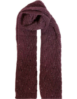 Dents Women's Lace Knit Scarf In Plum