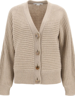 STELLA McCARTNEY FOREVER CARDIGAN IN CASHMERE AND WOOL 42 Beige Cashmere, Wool