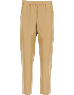 DROME NAPPA BAGGY JOGGERS M Beige Leather