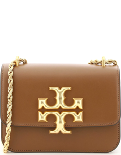 TORY BURCH ELEANOR SMALL SHOULDER BAG OS Brown Leather