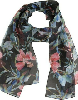 Dents Women's Tropical Print Scarf In Black