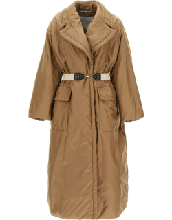 MAX MARA THE CUBE LONG PADDED DOWN JACKET 40 Beige Technical