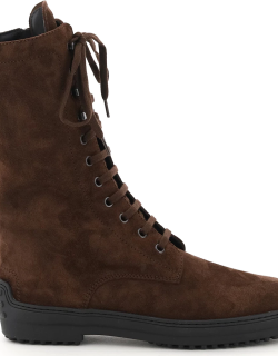 TOD'S SUEDE LEATHER REVERSED BOOTS 36 Brown Leather