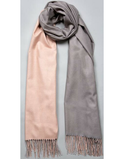 Dents Women's Reversible Lightweight Scarf In Blush/charcoal