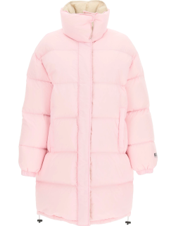 MSGM PADDED LONG DOWN JACKET 40 Pink Technical