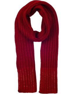 Dents Women's Diamante Knitted Scarf In Berry