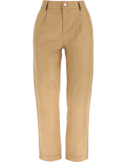 RED VALENTINO LEATHER TROUSERS 40 Brown Leather
