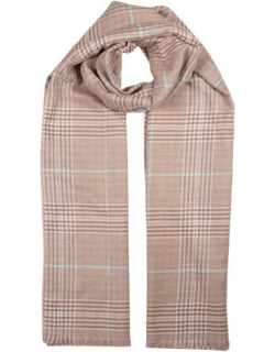 Dents Women's Lightweight Check Print Knitted Scarf In Pink