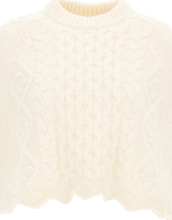 LOULOU STUDIO WOOL AND CACHEMIRE BLEND CAPE S White Wool, Cashmere