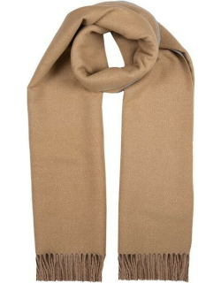Dents Women's Plain Midweight Sparkle Scarf In Camel