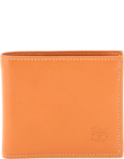 IL BISONTE DOUBLE COWHIDE BIFOLD WALLET OS Orange Leather