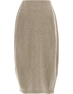 LOW CLASSIC WOOL AND CACHEMIRE PENCIL SKIRT OS Beige Wool, Cashmere