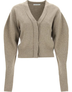 LOW CLASSIC WOOL AND CASHMERE CARDIGAN OS Grey, Brown Cashmere, Wool