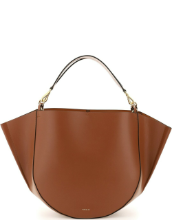 WANDLER MIA LEATHER TOTE BAG OS Brown Leather