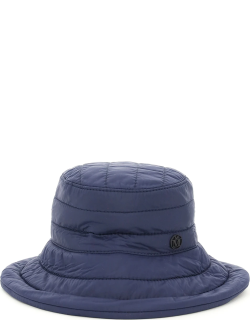 MAISON MICHEL QUILTED CHARLOTTE HAT S Blue Technical