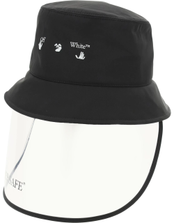 OFF-WHITE BUCKET HAT WITH MASK OS Black Technical