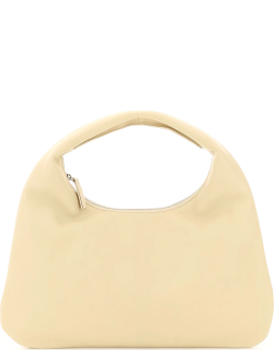 THE ROW EVERYDAY SMALL LEATHER HOBO BAG OS Beige Leather