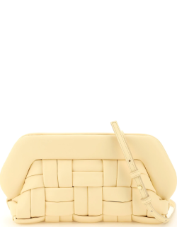 THEMOIRe BIOS WEAVED CLUTCH IN VEGAN LEATHER OS Yellow, Beige Faux leather
