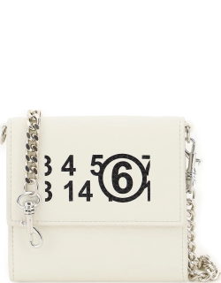 MM6 MAISON MARGIELA WALLET WITH CHAIN OS White Leather