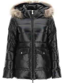 PYRENEX AUTHENTIC DOWN JACKET WITH FUR 36 Black Technical