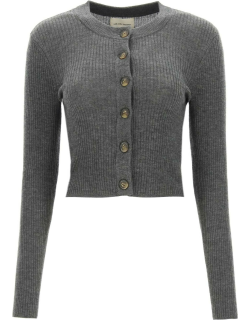 LOULOU STUDIO WOOL AND CACHEMIRE BLEND SHORT CARDIGAN XS Grey Wool, Cashmere