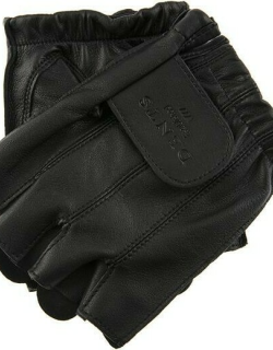 Dents Men's Fingerless Leather Cycling Gloves In Black