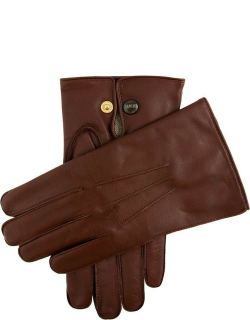 Dents Men's Wool Lined Leather Officers Gloves In English Tan