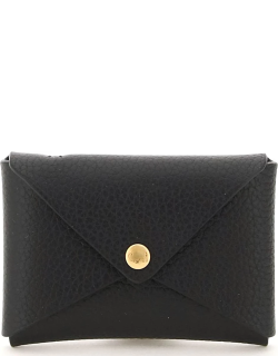 IL BISONTE CREDIT CARD HOLDER WITH KEYCHAIN OS Black Leather