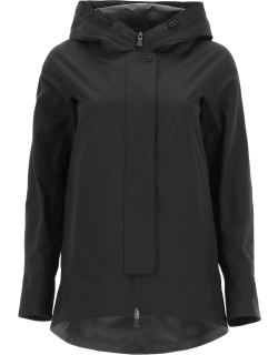 HERNO LAMINAR 2-LAYER GORE-TEX HOODED JACKET 44 Black Technical
