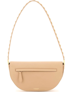BURBERRY OLYMPIA SMALL LEATHER SHOULDER BAG OS Beige Leather