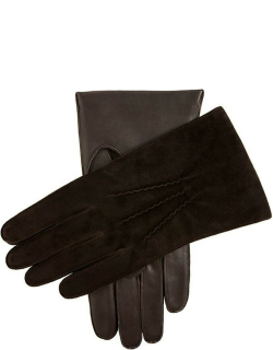 Dents Men's Cashmere Lined Suede And Leather Gloves In Brown