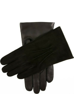 Dents Men's Cashmere Lined Suede And Leather Gloves In Black