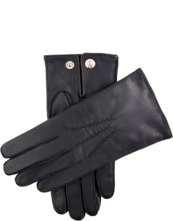 Dents Men's Red Cashmere Lined Leather Gloves In Navy