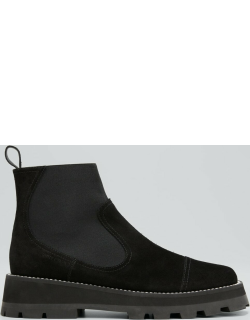 Clayton Suede Pull-on Booties